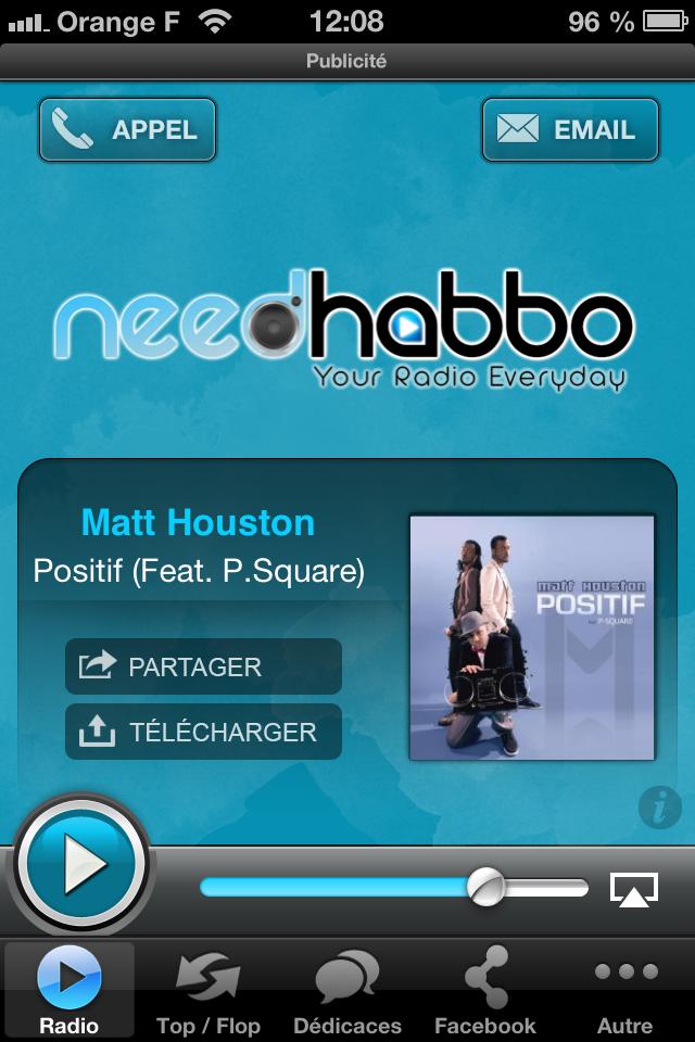 Application iPhone de la radio Needhabbo