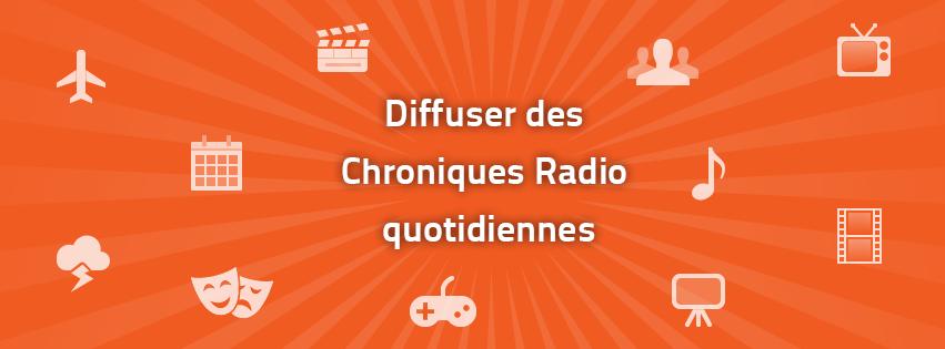 Du nouveau chez Radio King : Les Chroniques Radio Quotidiennes