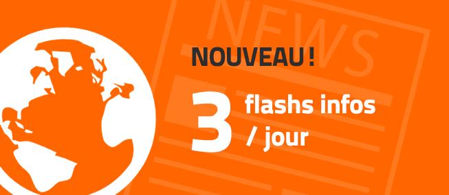 Nouveau: Diffuser des Flashs Infos