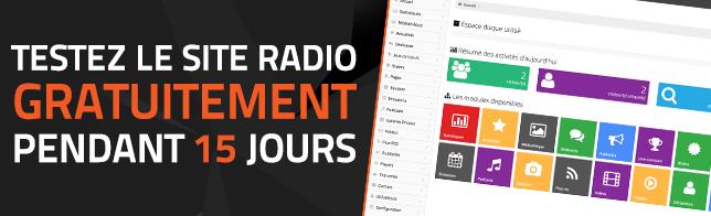 Nouveau : Essayez gratuitement le Site Radio pendant 15 jours