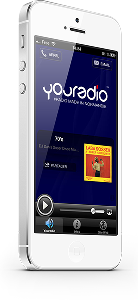 L'application YouRadio sur iPhone