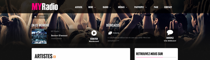 5 designs de Site Radio inspirants