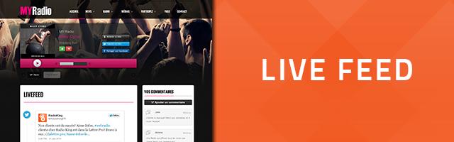 Nouveau: Le LiveFeed est disponible!