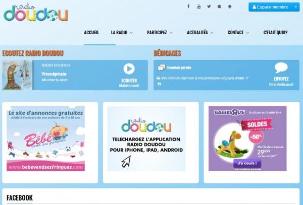L'accueil du Site de Radio Doudou